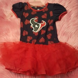 NWOT- NFL-Houston Texans lil girls tutu dress